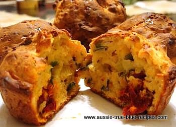 Cheese And Sundried Tomato Muffins